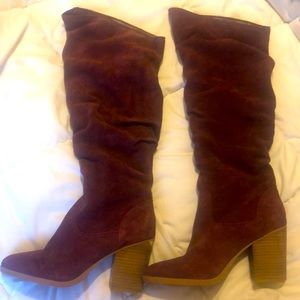 Nine West Suede Knee high slouch boot